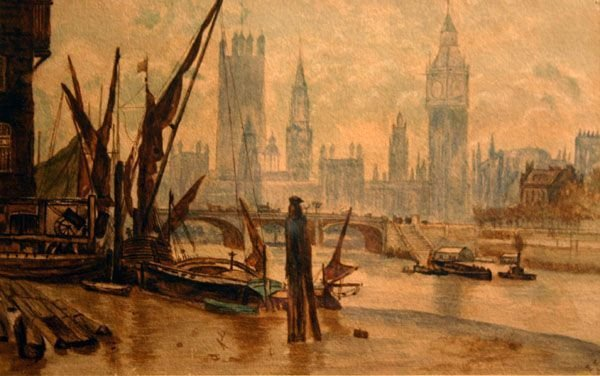 303: ELIZABETH BUTLER b1846 English Watercolor London