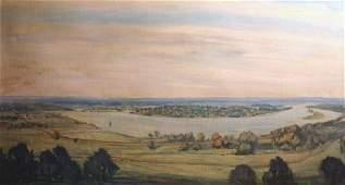 322: WALTER BAUM b1884 American Painting Bucks County