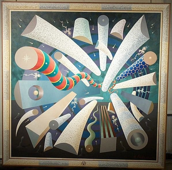 398: S ARKHIPOV Russian Abstract Painting