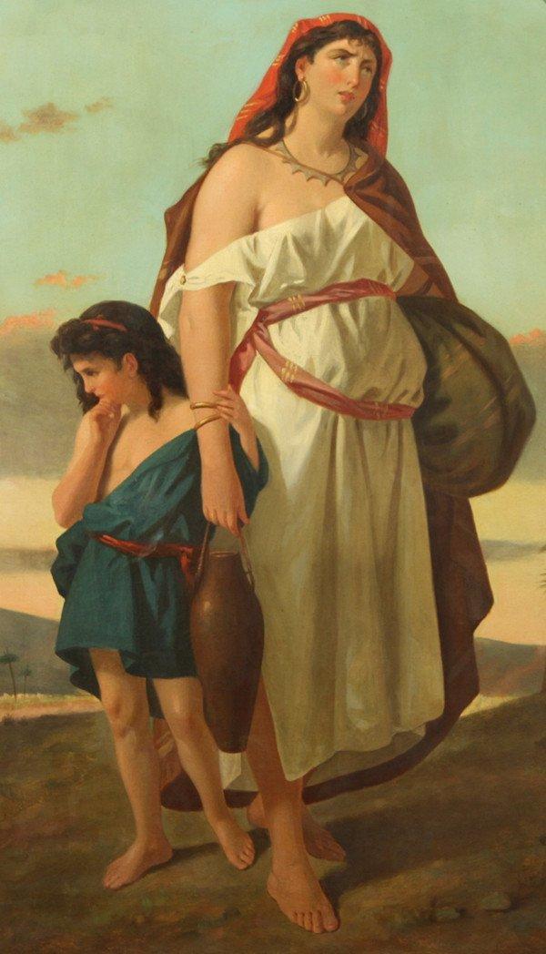 "20: ENRICO FANFANI (ITALIAN 1824-1885), ""Hagar, the sla"