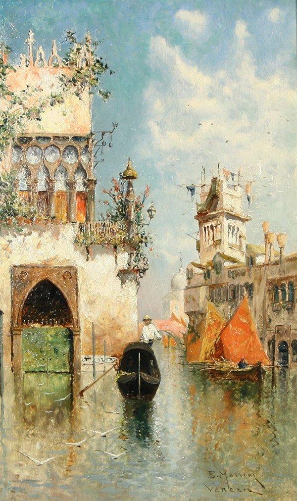"21: EGISTO MASSONI (ITALIAN 1854-1929), ""Gondolier by t"