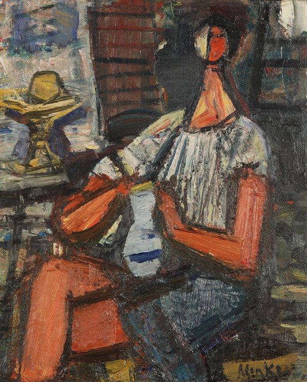 "91: SIGMUND MENKES (POLISH-AMERICAN 1896-1986), ""Seated"