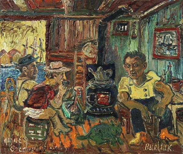 "163: DAVID BURLIUK (RUSSIAN-AMERICAN 1882-1967), ""Green"