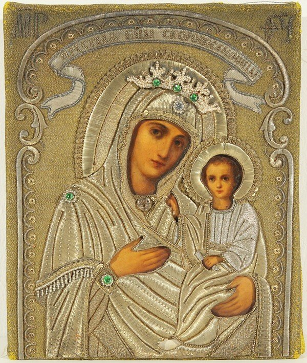 22: RUSSIAN ICON, THE SKROPOSLUSHNITSA MOTHER OF GOD, B