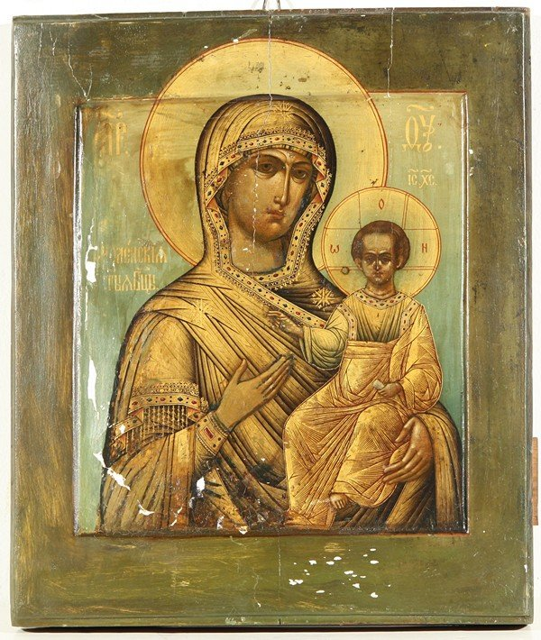 23: RUSSIAN ICON, THE SMOLENSKAYA MOTHER OF GOD, Late 1