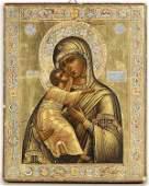 24 RUSSIAN ICON THE VLADIMIR MOTHER OF GOD Beginning
