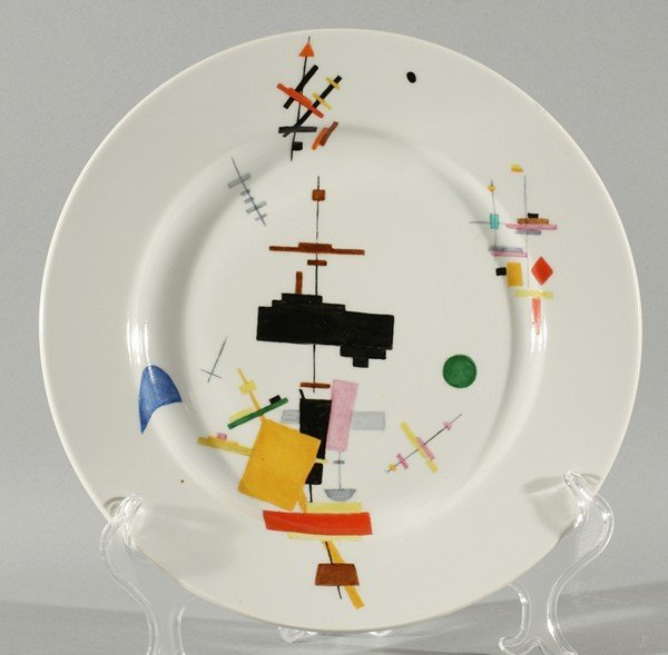 RUSSIAN PORCELAIN PLATE MALEVICH