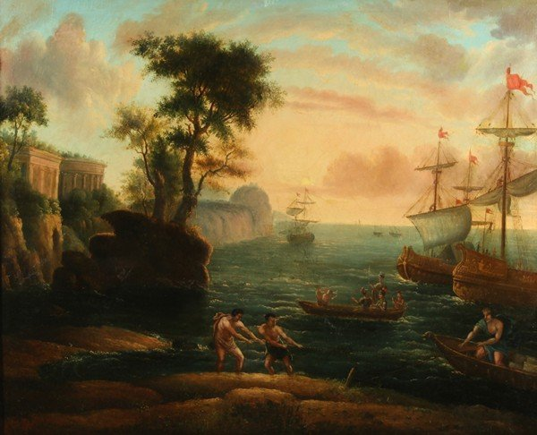 12: MANNER OF VERNET OLD MASTER PAINTING