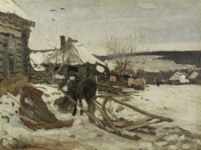 ISAAC LEVITAN RUSSIAN PAINTING WINTER