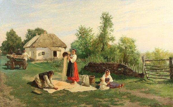 49: TRUTOVSKY ANTIQUE RUSSIAN UKRAINIAN PAINTING