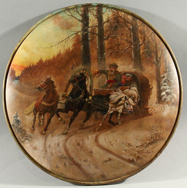 57: KOVALEVSKY ANTIQUE RUSSIAN PAINTING