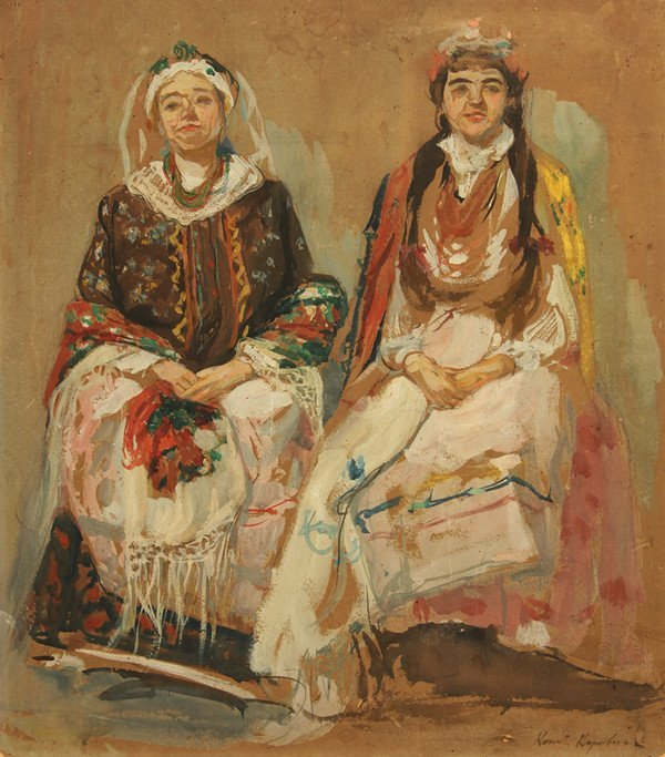 71: KOROVIN ANTIQUE RUSSIAN PAINTING BRIDE