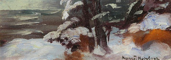 72: KOROVIN ANTIQUE RUSSIAN PAINTING WINTER