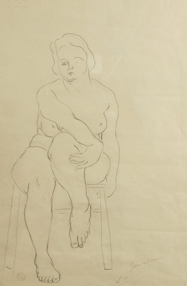123: LEOPOLD SURVAGE RUSSIAN DRAWING NO RESERVE