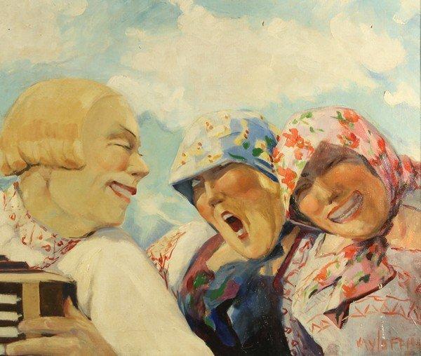 135: BORIS KRILOV RUSSIAN PAINTING