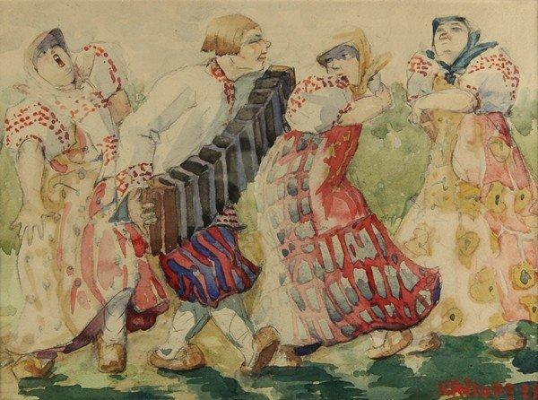 136: BORIS KRILOV RUSSIAN PAINTING