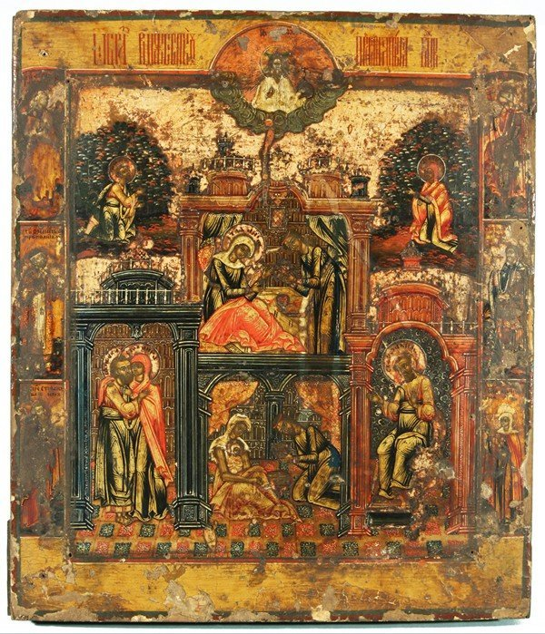 308: RUSSIAN ICON OF THE NATIVITY