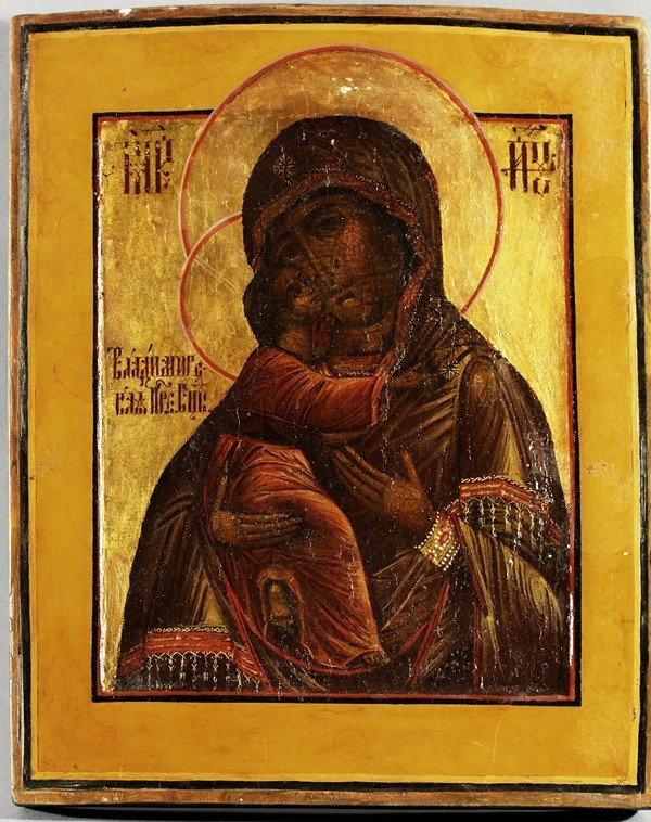 311: RUSSIAN ICON VLADIMIRSKAYA MOTHER OF GOD