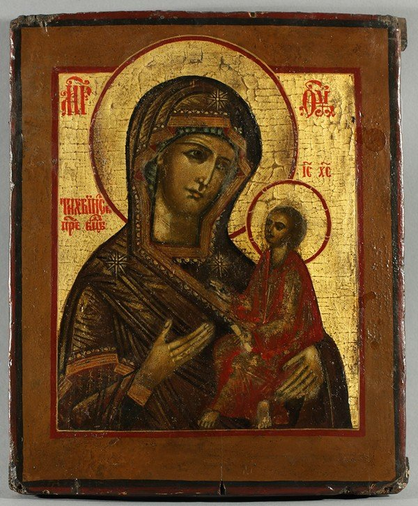 314: RUSSIAN ICON OF TIKHVINSKAYA MOTHER OF GOD