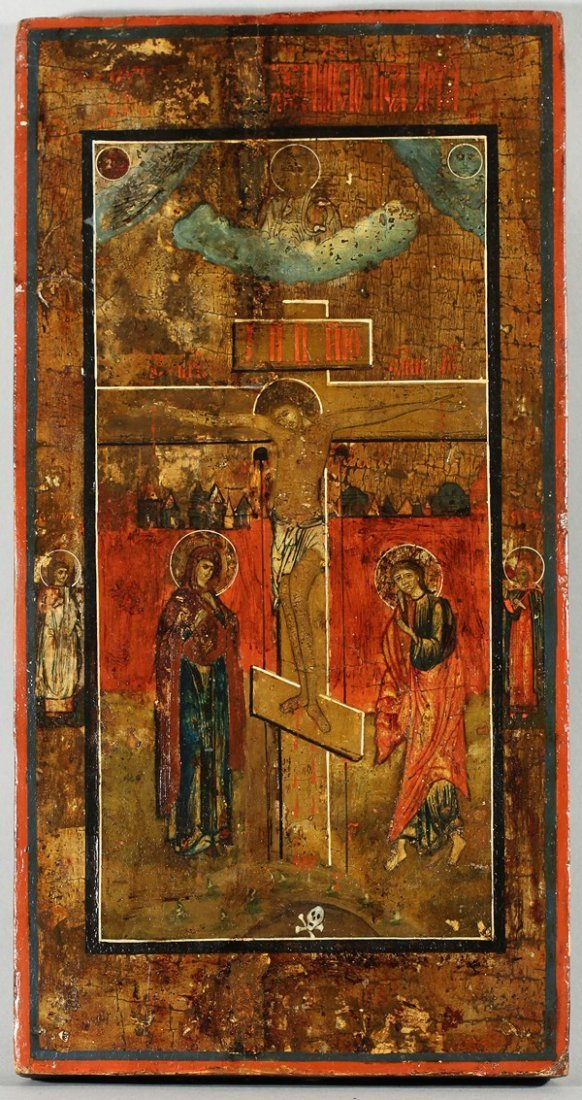 323: RUSSIAN ICON OF THE CRUCIFIXION