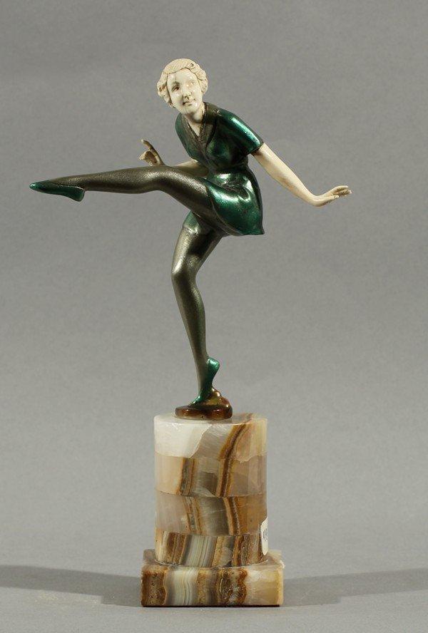 377: JOSEF LORENZL DANCING WOMAN BRONZE IVORY