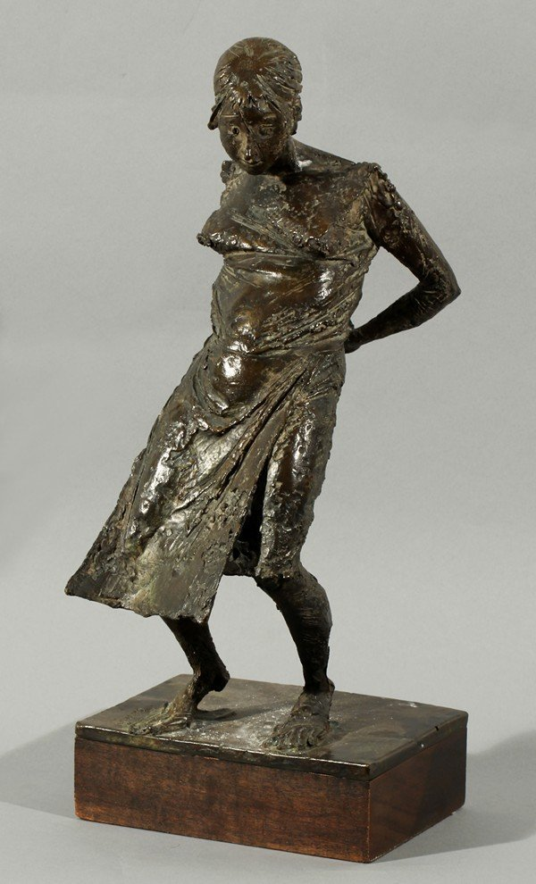 386: BRUNO LUCCHESI ANTIQUE ITALIAN BRONZE SCULPTURE WO