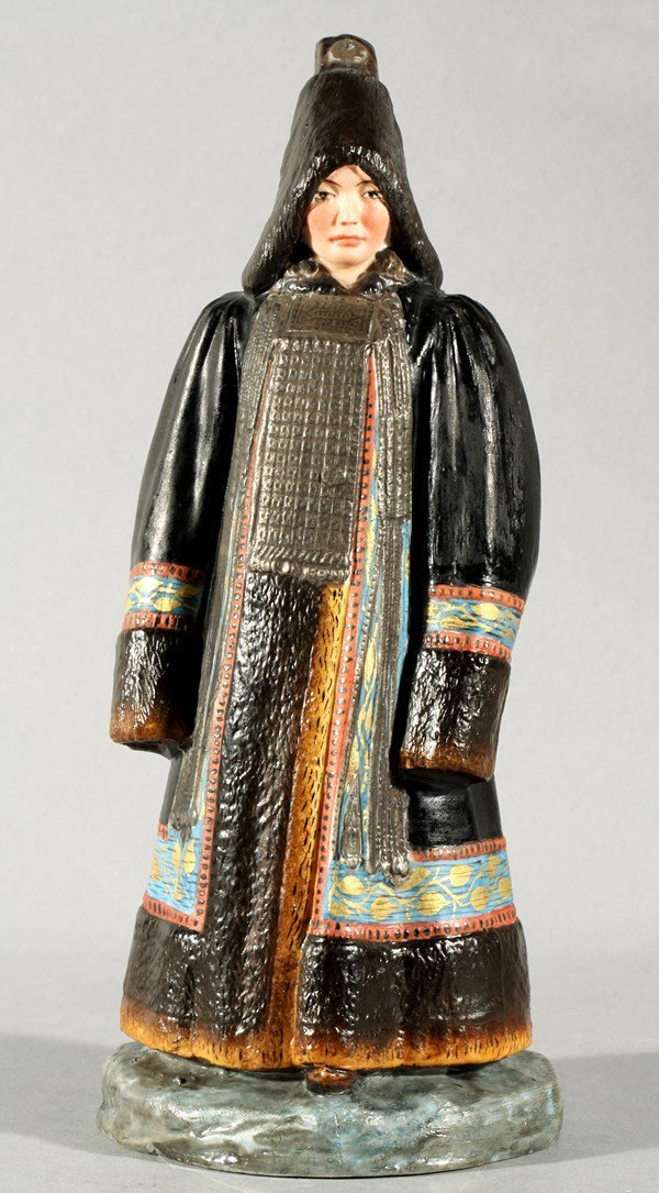 409: ANTIQUE RUSSIAN IMPERIAL PORCELAIN FIGURE YAKUT WO