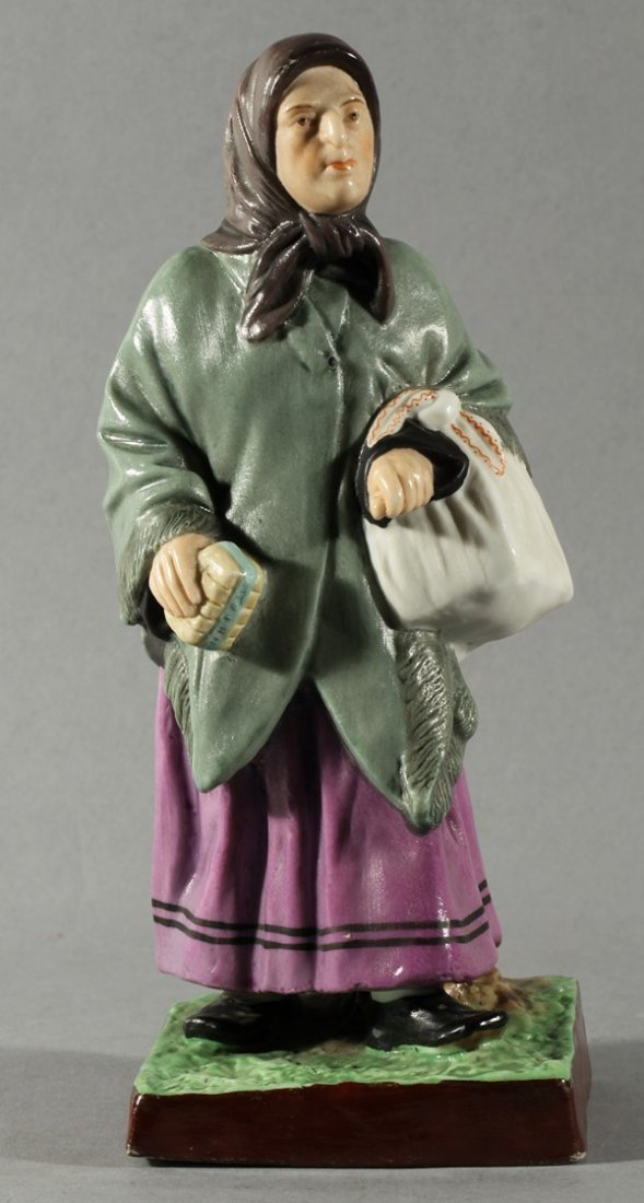 412: ANTIQUE RUSSIAN GARDNER PORCELAIN FIGURE JEWESS 19