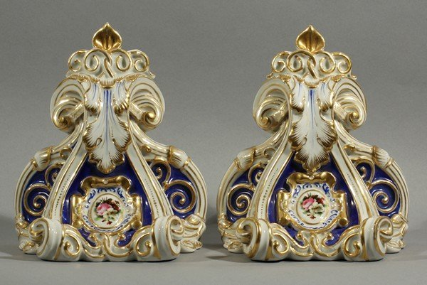 418: PAIR OF ANTIQUE RUSSIAN 19THC KORNILOV WALL SCONCE