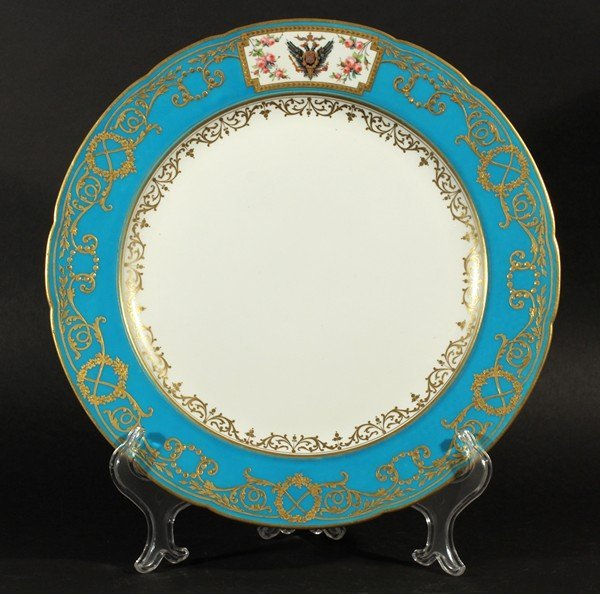 438: ANTIQUE 19TH FRENCH PORCELAIN PLATE