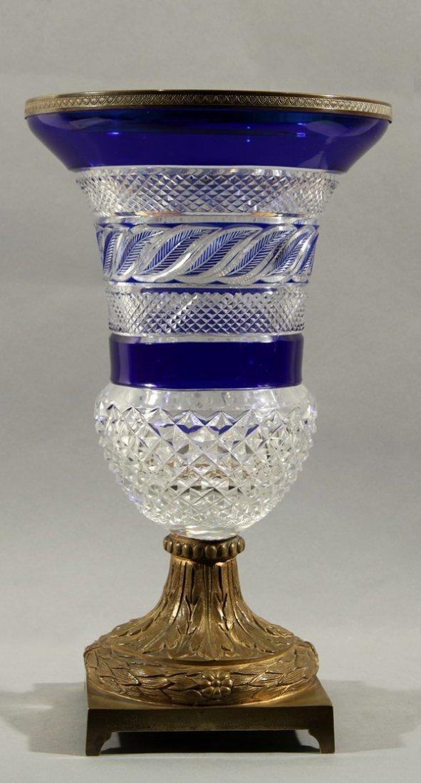 447: ANTIQUE RUSSIAN CUT GLASS VASE 19TH C.