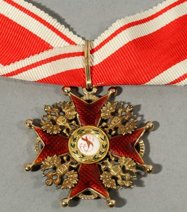 461: ANTIQUE RUSSIAN ORDER OF STANISLAUS THIRD CLASS OS