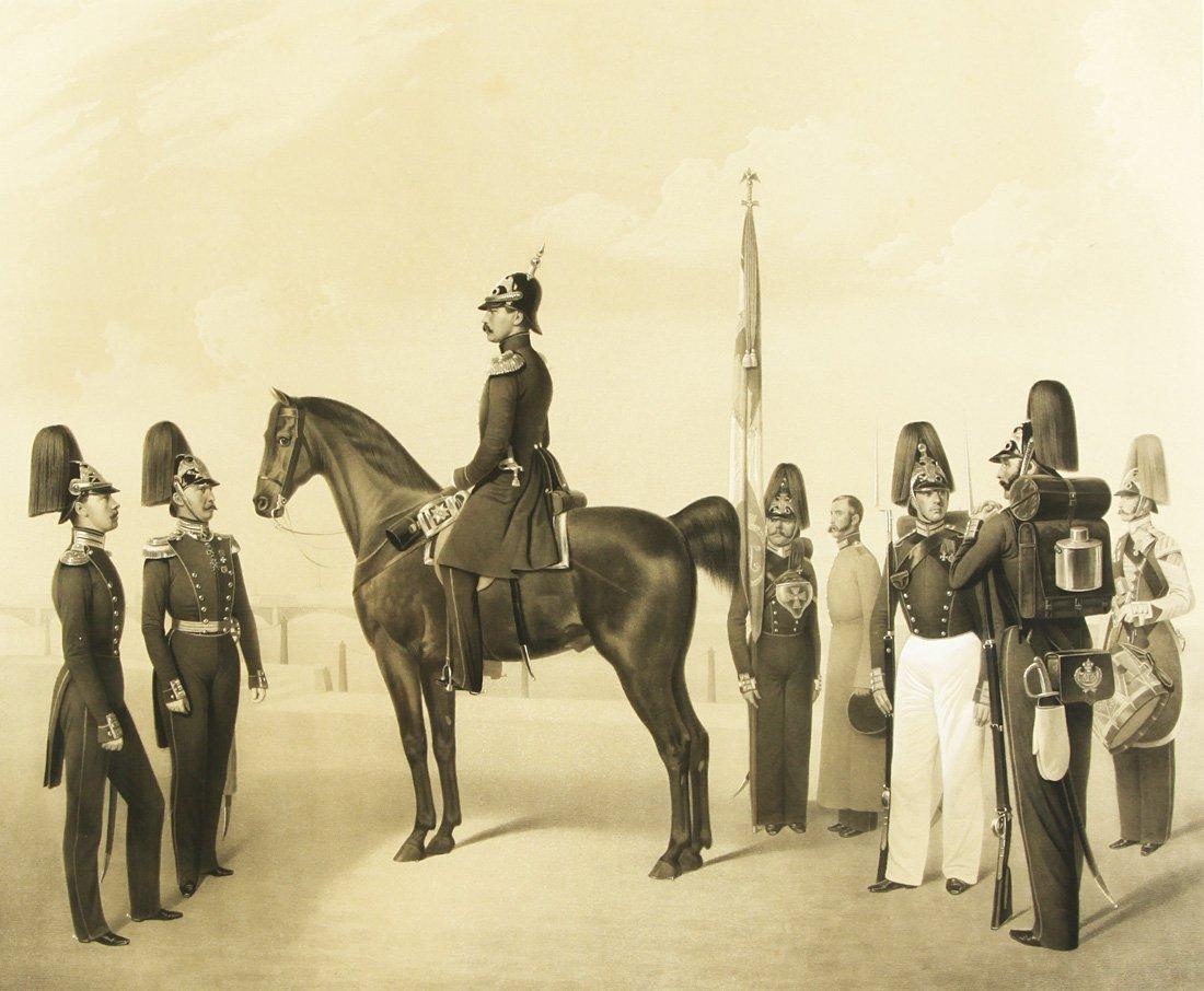 "13: ADOLF IVANOVICH GEBENS (1819-1888), ""Group of Milit"