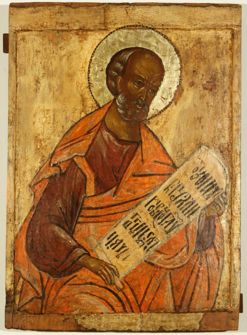 A RUSSIAN ICON OF MOSES, NORTHERN SCHOOL, CIRCA 1600, E