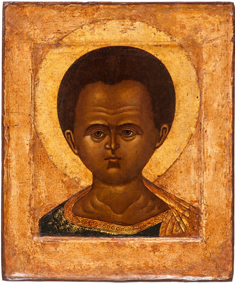 A RUSSIAN ICON OF CHRIST IMMANUEL, NORTHERN RUSSIA, 17T