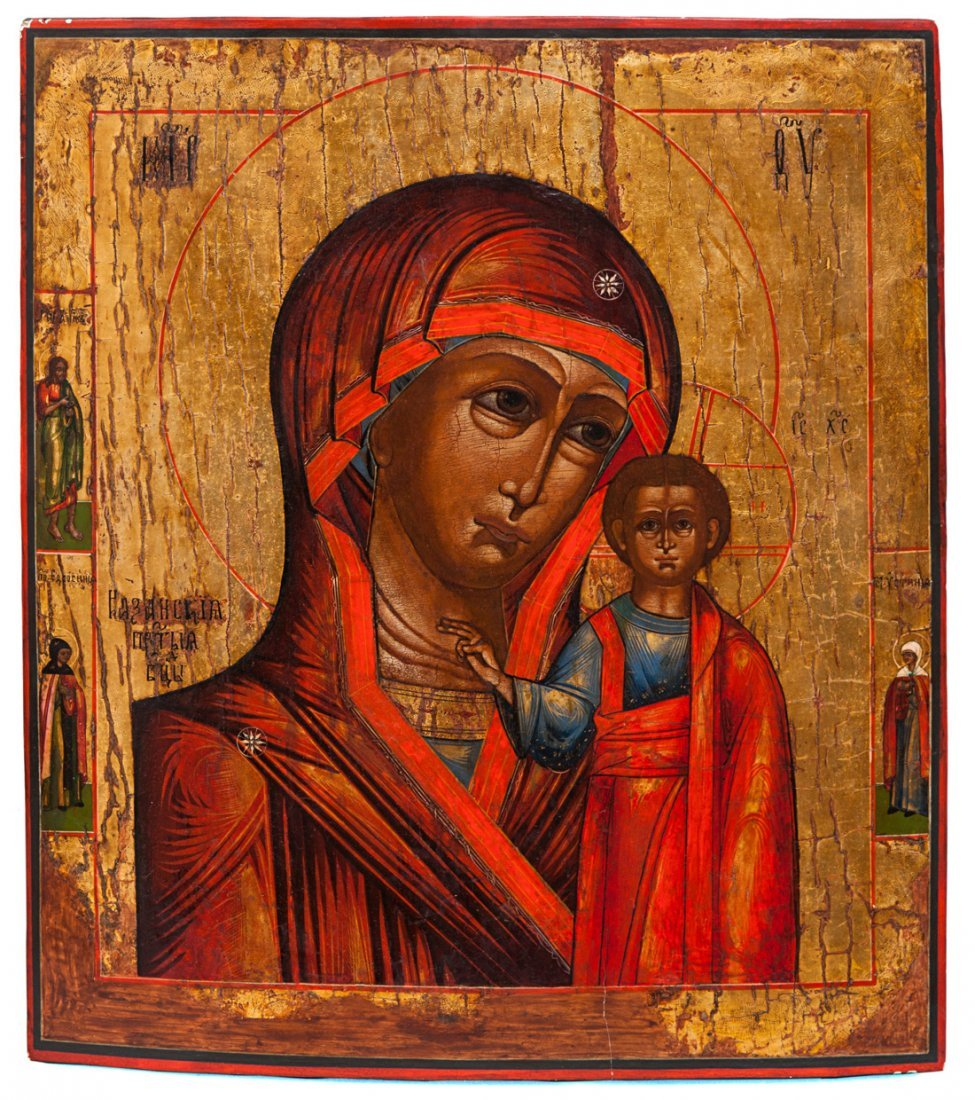 A RUSSIAN ICON OF THE KAZANSKAYA MOTHER OF GOD, TVER SC
