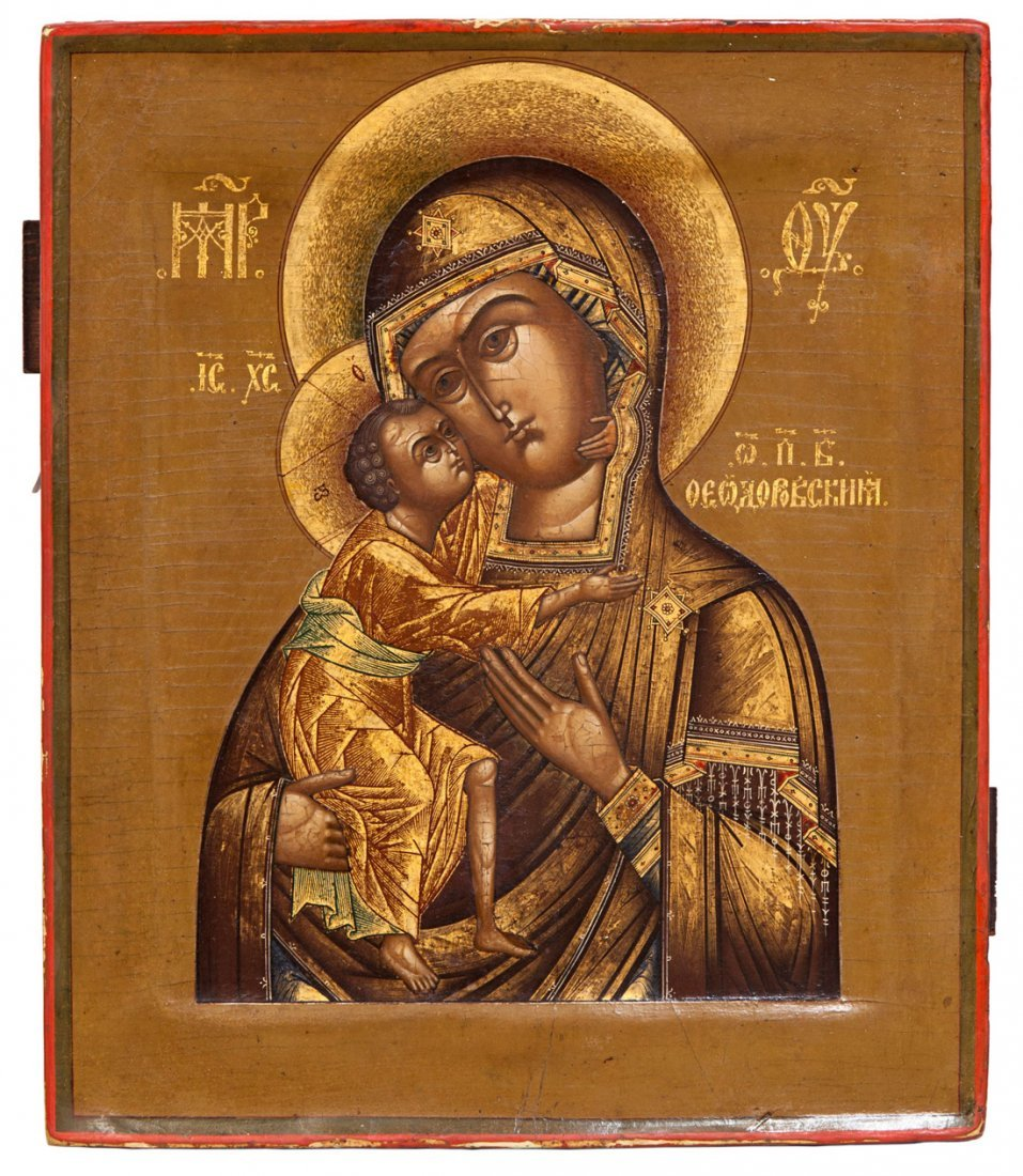 A RUSSIAN ICON OF THE  FEDOROVSKAYA MOTHER OF GOD AND T