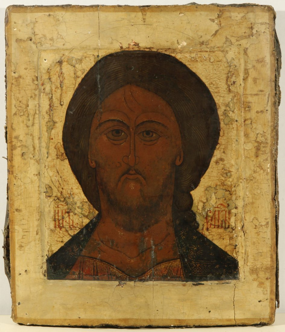 RUSSIAN ICON OF SPAS OPLECHNII 18TH CENTURY