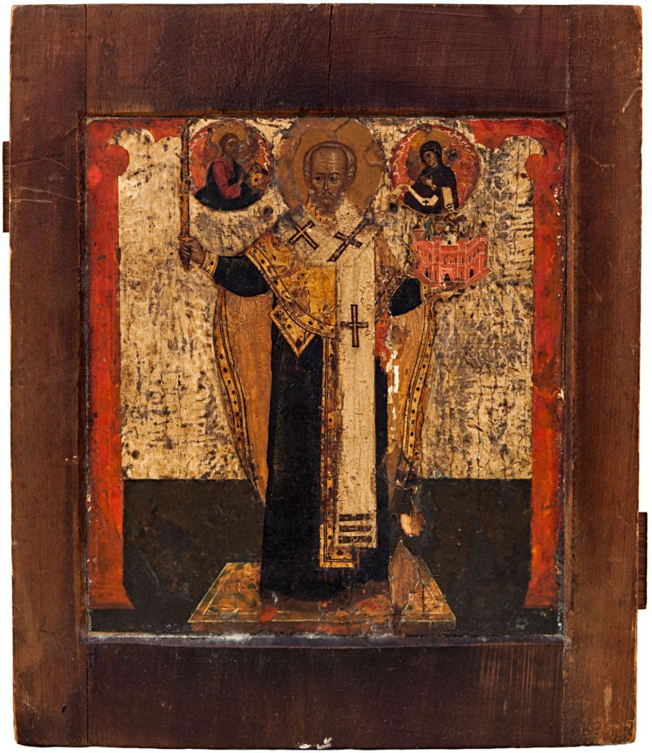 RUSSIAN ICON OF SAINT NIKOLAI MOZHAISKY 18TH C