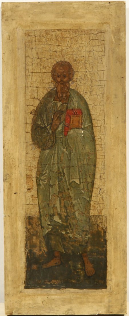 RUSSIAN ICON OF AN APOSTLE EARLY 19TH C
