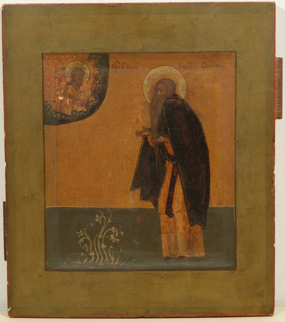 RUSSIAN ICON OF SAINT SAVVA 19TH C