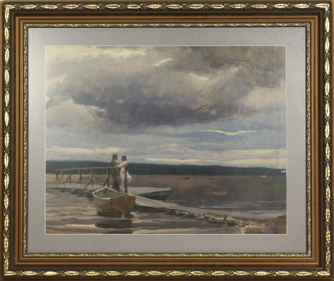 NISSKY RUSSIAN WATERCOLOR PAINTING - 2