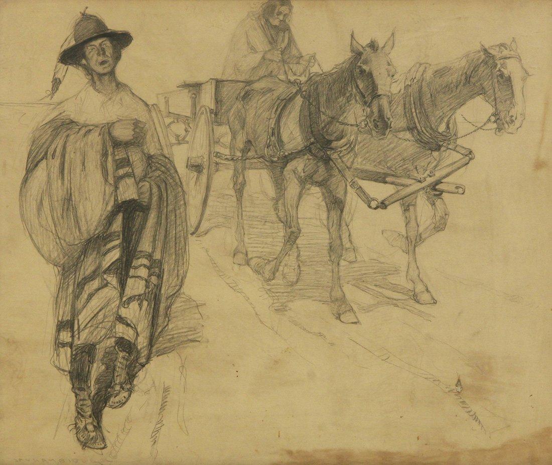 JAY EDWARD HAMBIDGE (AMERICAN 1867-1924)