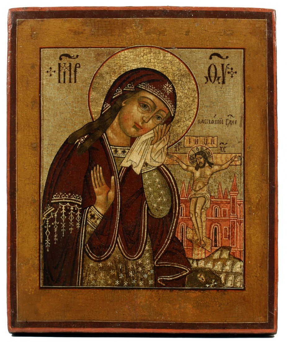 A RUSSIAN ICON OF THE VIRGIN MARY ASSUAGE MY SORROWS