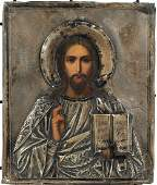 A RUSSIAN ICON OF CHRIST PANTOCRATOR, MOSCOW, C. 1908 -