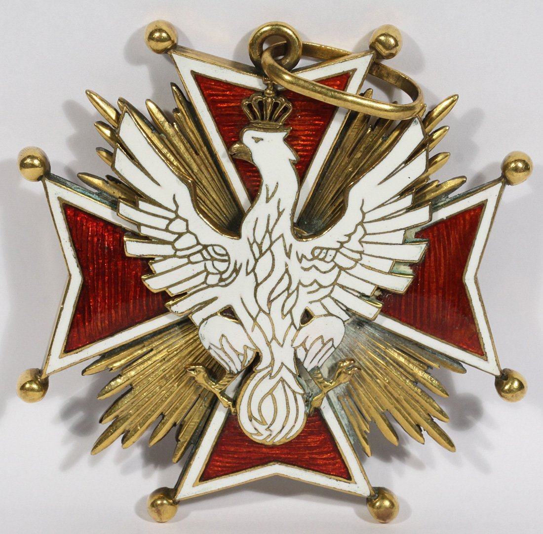 polish order of the white eagle c 1921 the badge