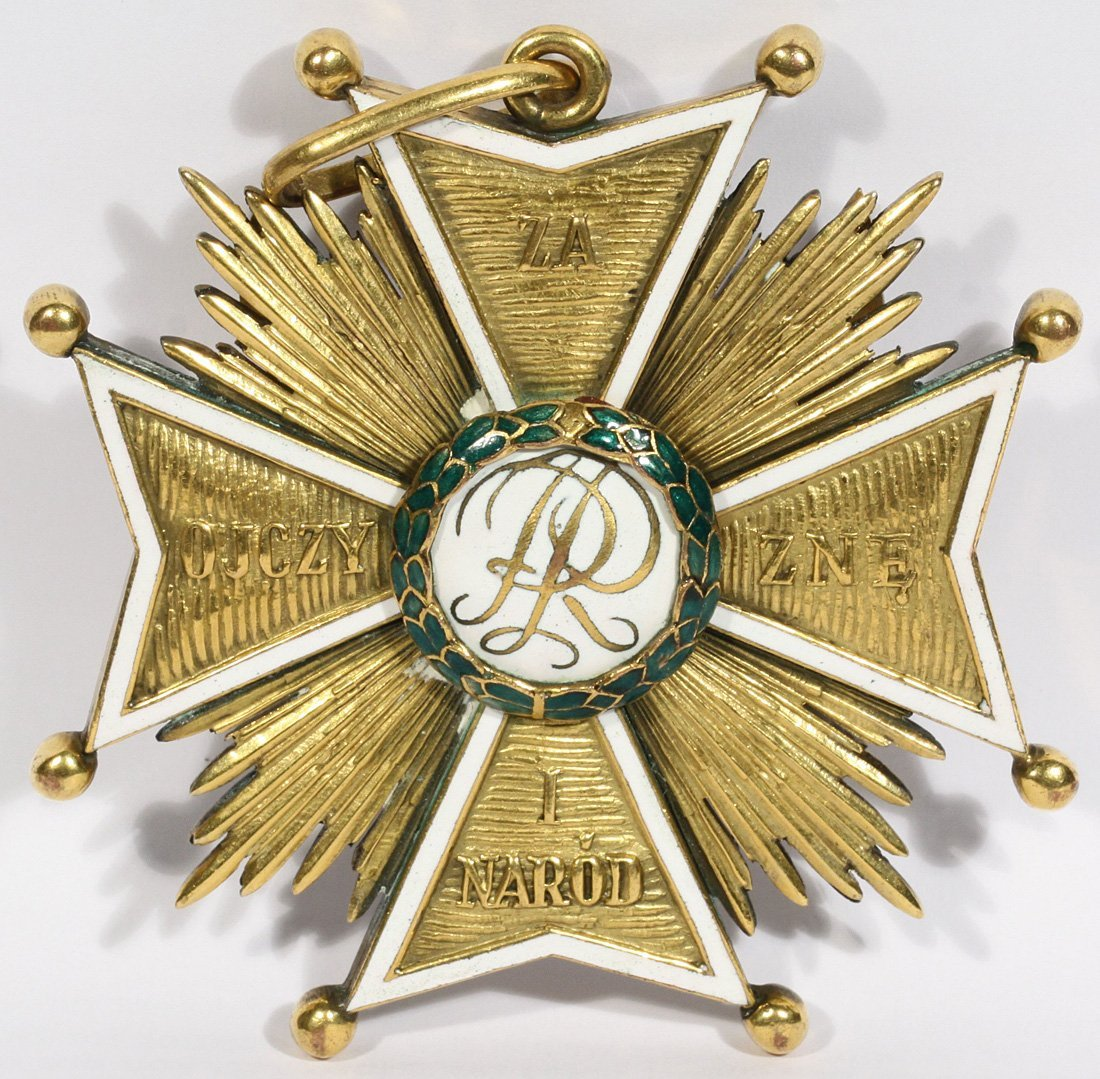A POLISH ORDER OF THE  WHITE EAGLE,  C. 1921, the badge - 2