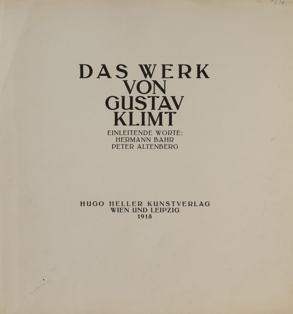 GUSTAV KLIMT (1862-1918),  Das Werk von Gustav Klimt. - 4