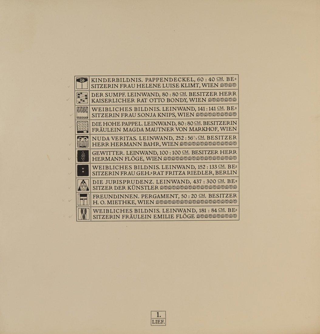 GUSTAV KLIMT (1862-1918),  Das Werk von Gustav Klimt. - 6