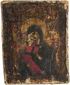 A GREEK ICON OF THE VLADIMIR MOTHER OF GOD END OF 19TH